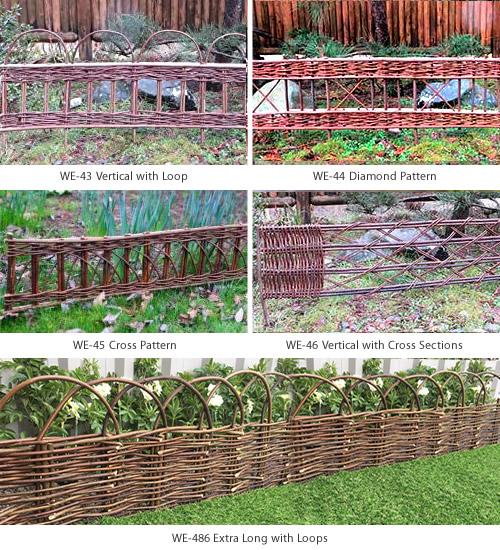 Master Garden Products WE-43, WE-44, WE-45, WE-46, WE-48 Slightly Flexible Willow Edging