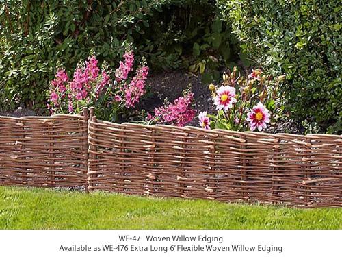 WE-47, WE-476 Flexible Woven Willow Edging