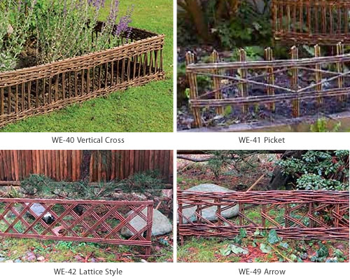 Master Garden Products WE-40, WE-41, WE-42, WE-49 Straight Willow Edging