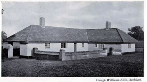 1919 Rammed Earth Cottage, Newlands Corner Cottage Building in Cob, Pisé, Chalk & Clay - A Renaissance by Clough Williams-Ellis