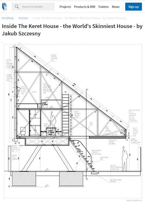 Inside The Keret House - the World's Skinniest House - by Jakub Szczesny
