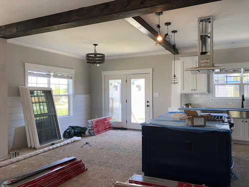 Dining Room during construction