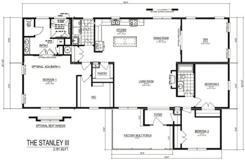 The Stanley III Modular Home Discovery Custom Homes by Palm Harbor Homes Plan with optional ADA bath