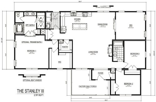 The Stanley III Modular Home Discovery Custom Homes by Palm Harbor Homes Plan with optional Premier Bath