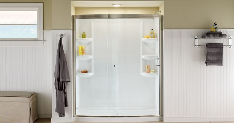 Replace the Fiberglass Bath with a new Acrylic Shower