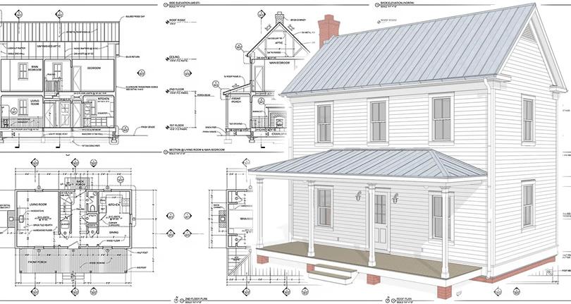 Updated Virginia Farmhouse House Plans