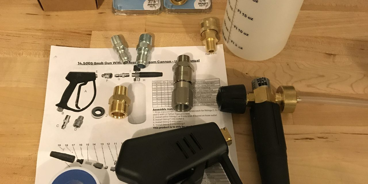 New & Finalized Pressure Washer Setup