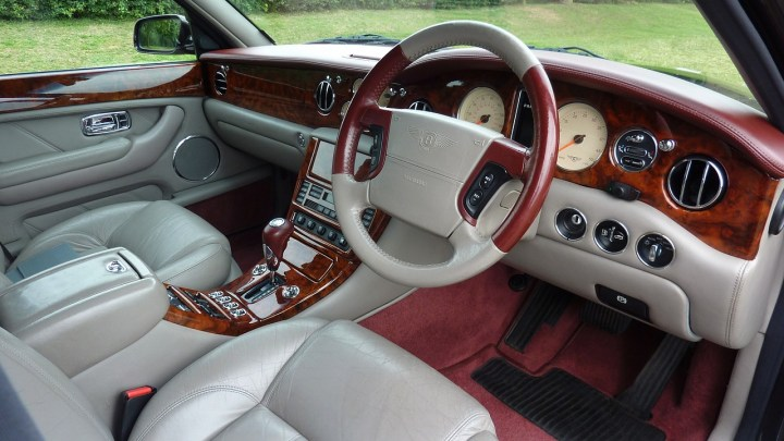 Car front part interior