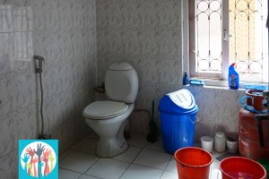 Our bathroom is simple but clean!