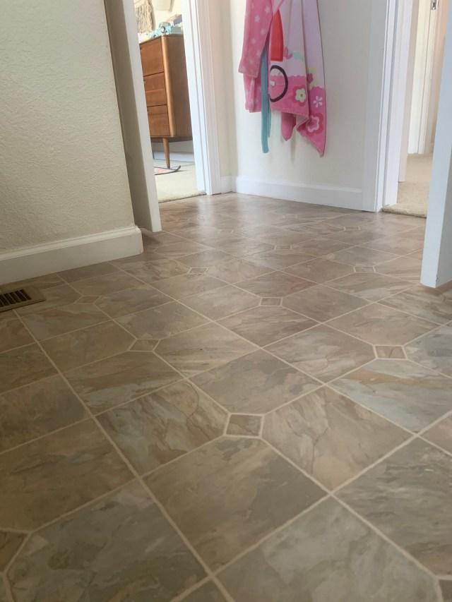 How To Paint Linoleum Floors Diy Stenciled Pattern Floors Project Whim