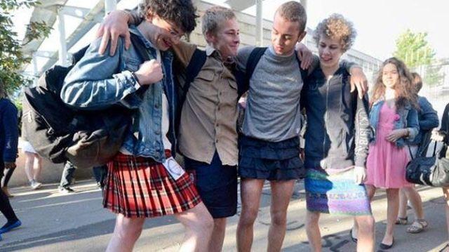 Jongens in rokjes
