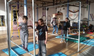 Picture showing Manchester Parkour classes in action