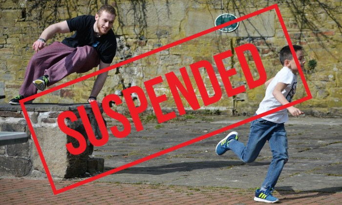 Parkour Classes Suspended