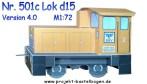 Papercraft imprimible y recortable de la locomotora D15. Manualidades a Raudales.