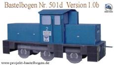 Papercraft imprimible y recortable  de una locomotora de derivación grande. Manualidades a Raudales.