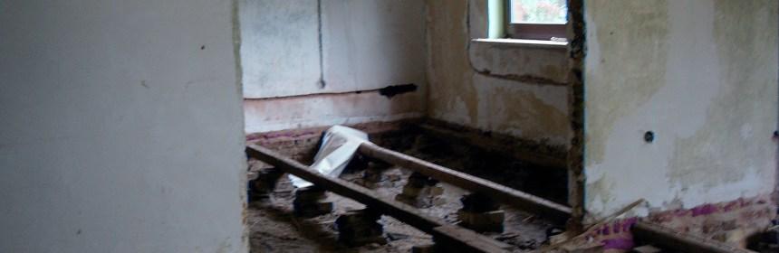 Wohnzimmer Fußboden entfernt