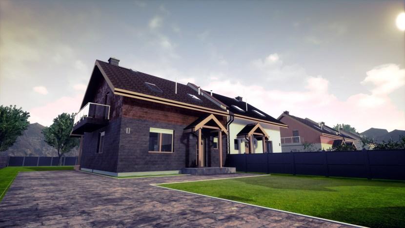 model osiedla domków jednorodzinnych, wizualizacja domu
