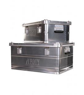 lot de 2 cantine militaire en aluminium 56 et 125 litres