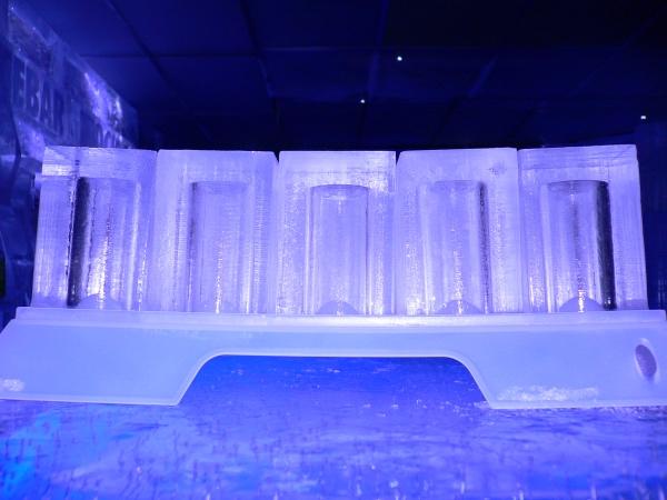 Os copos de gelo!