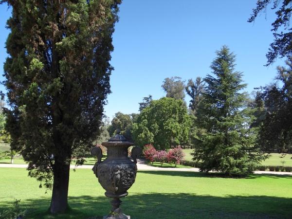 Jardins da propriedade da família Concha y Toro