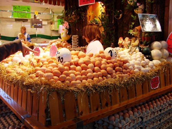 Ovos variados La Boqueria