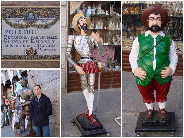 Frase de Cervantes, armaduras e os famosos personagens de Dom Quixote
