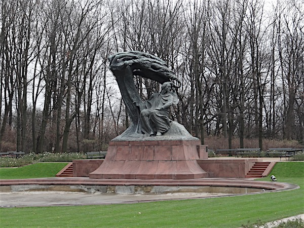 Estátua Chopin Parque Lazienki