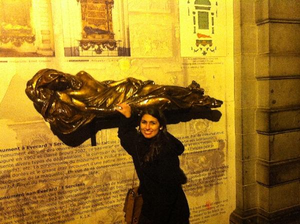 Estátua em Bruxelas
