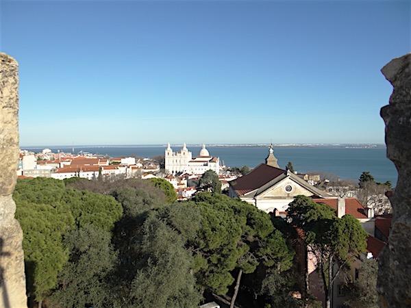 O Tejo visto do alto do Castelo de São Jorge