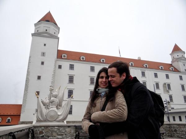 Duas das quatro torres do castelo