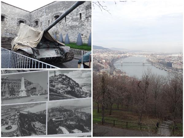 Tanque antigo, fotos antigas e a vista da Cidadela