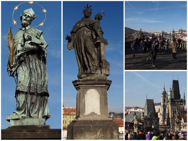 Ponte Carlos Praga monumentos