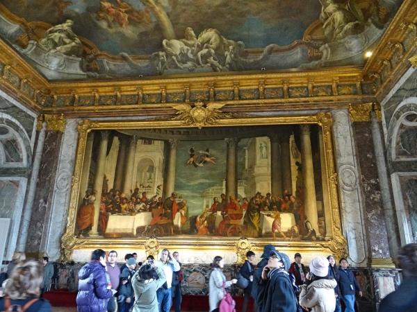 Pinturas nas paredes do Palácio