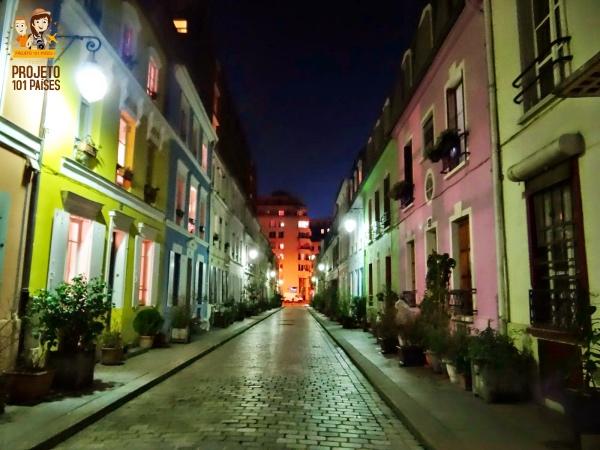 Casinhas coloridas da Rue Crémeux