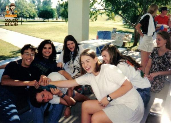 Eu, como podem ver, sofrendo bullying. Scottsdale, Arizona (Out/1994).