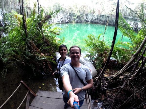 Esse lago é o mais diferente de todos, não só pela cor como pela vegetação na sua volta. Ficamos encantados!