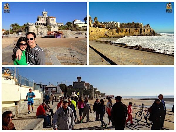 Praia do Tamariz e o Chalet Barros