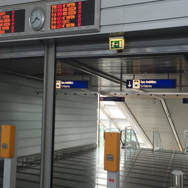 Plataformas do metrô