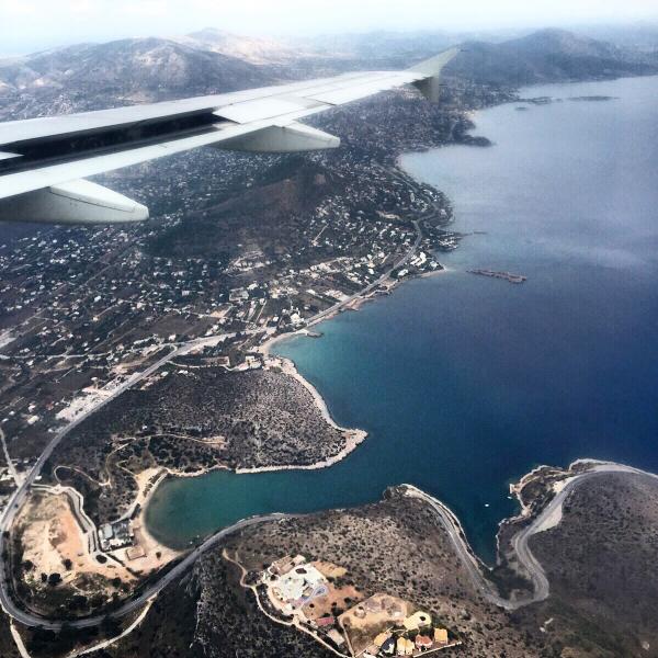 Chegando em Atenas