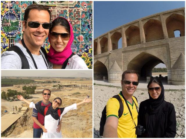 No sentido horário: Teerã, Isfahan e Persépolis