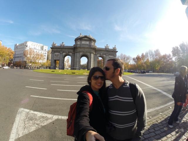 Puerta de Alcalá, em Madri