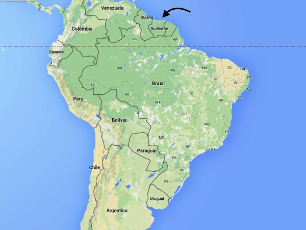 Mapa Suriname
