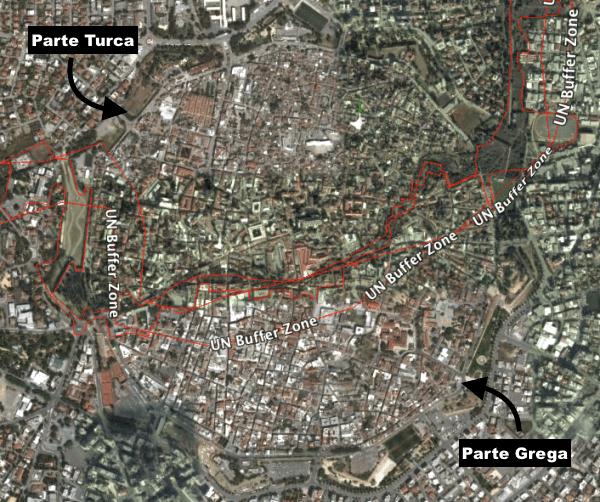 Cidade murada no centro de Nicosia