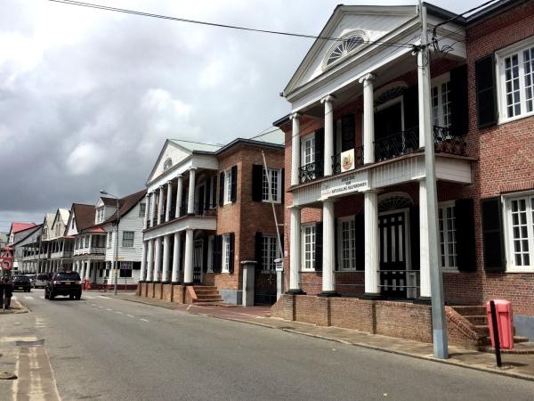 Rua em Paramaribo