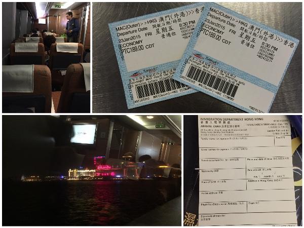 Viagem entre Macau e Hong Kong