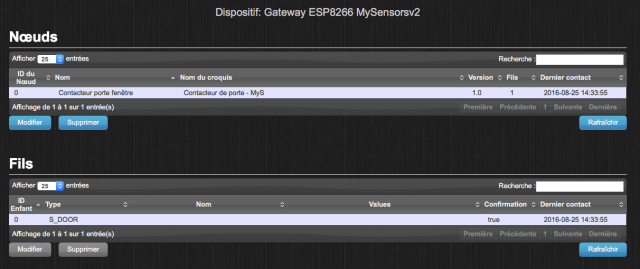 MySensors v2 - Gateway WiFi ESP8266 for Jeedom and Domoticz