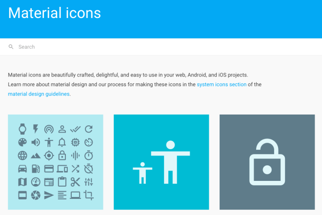 node-red dashboard icons material design google