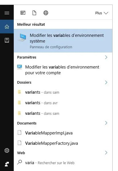 mongodb windows variable environnement path data db