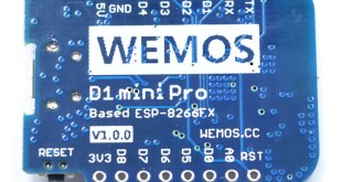 wemos d1 mini pro dessous bottom