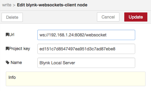 node-red blynk contrib websockets url